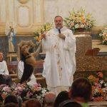 dog on the church altar